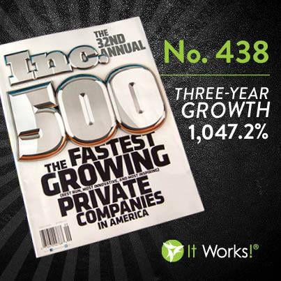 It Works Global INC Magazine 500 Fastest Growing Companies