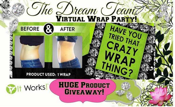 It Works Body Wraps Virtual Wrap Party