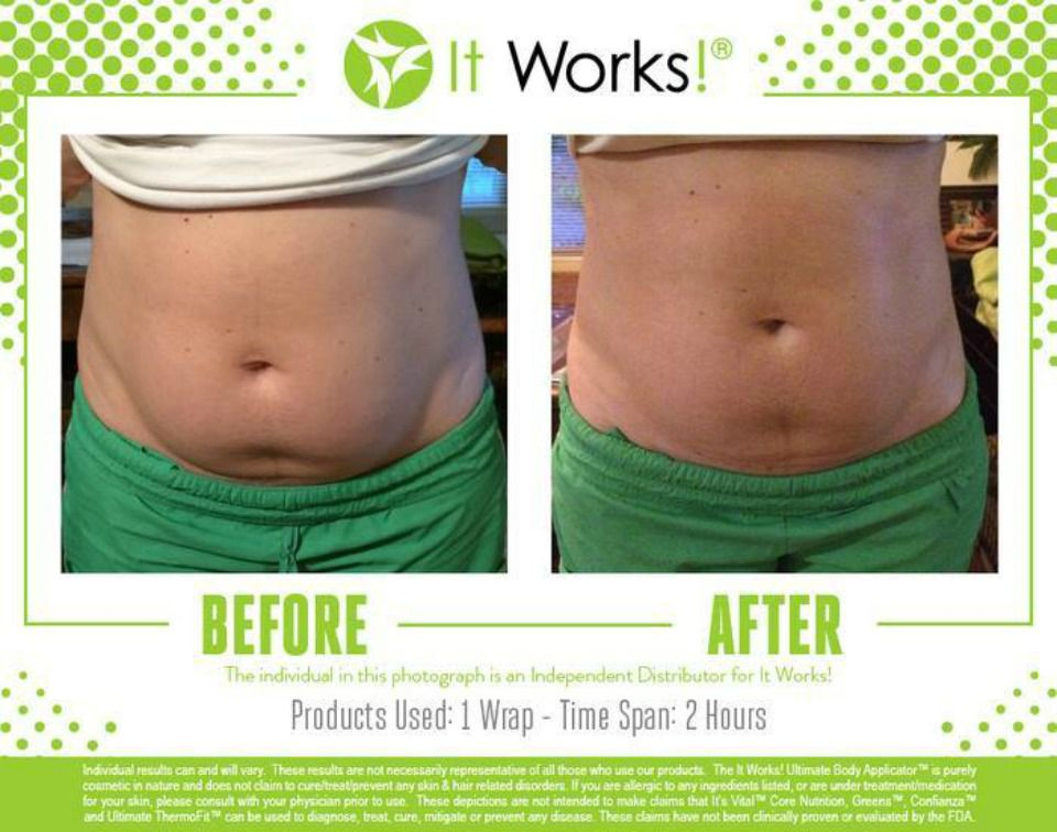 1 It Works Body Wrap Results after 2 Hours