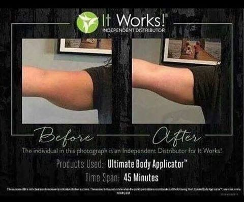 1 It Works Body Wrap on Arms after 45 minutes