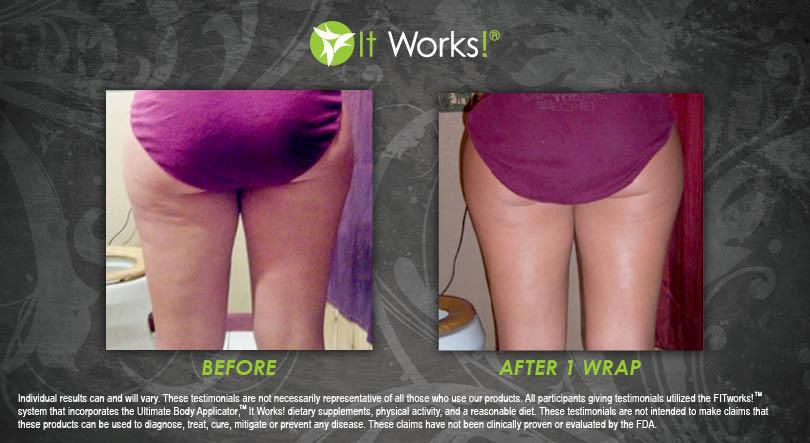 Results 1 It Works Body Wrap on back of Thighs