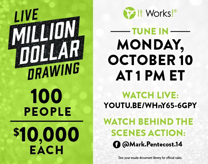 It Works Distributor Million Dollar Drawing Live