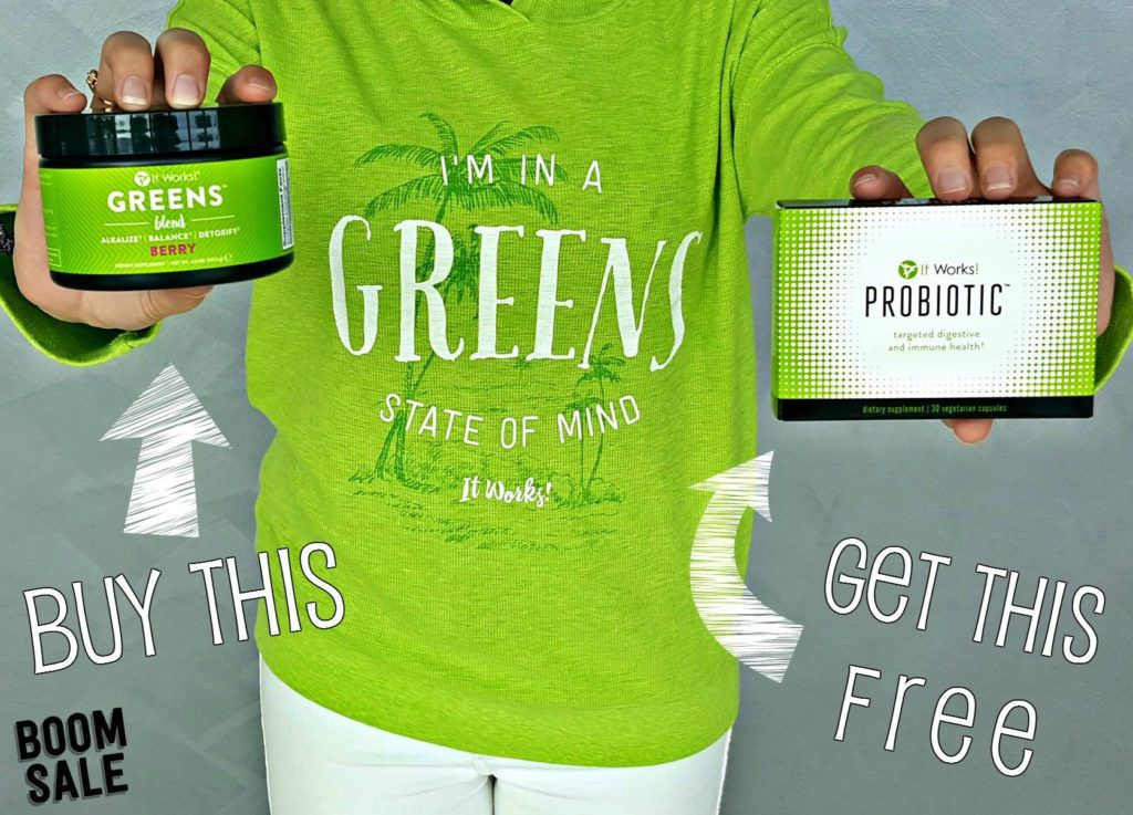 Buy It Works Berry Greens & Get It Works Probiotics Free