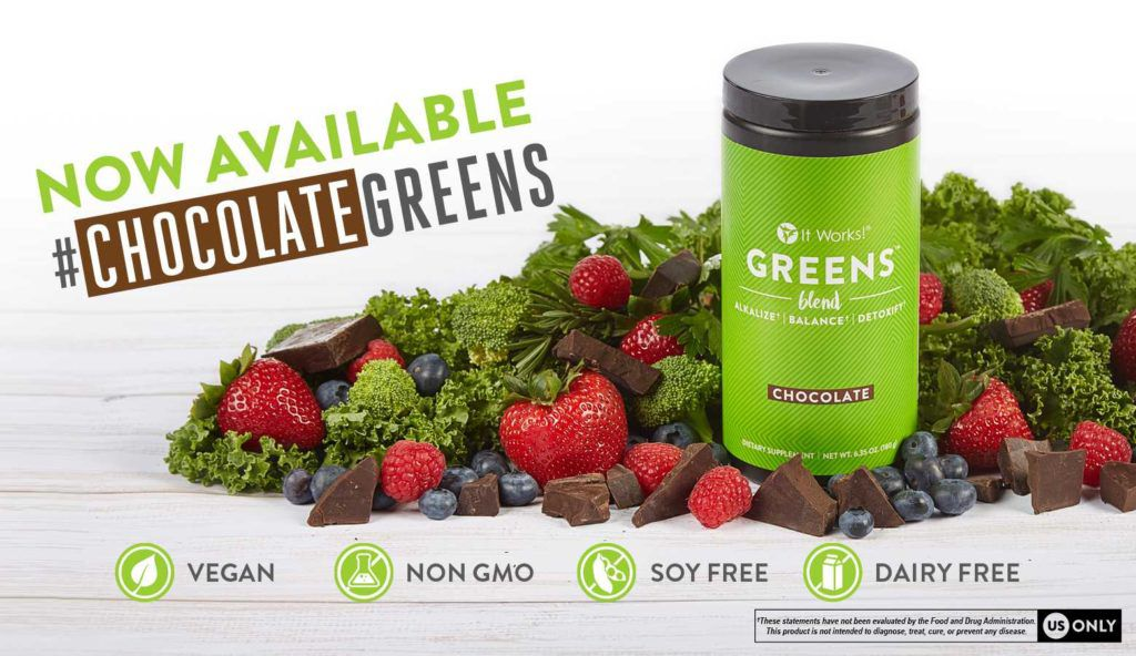 It Works Chocolate Greens