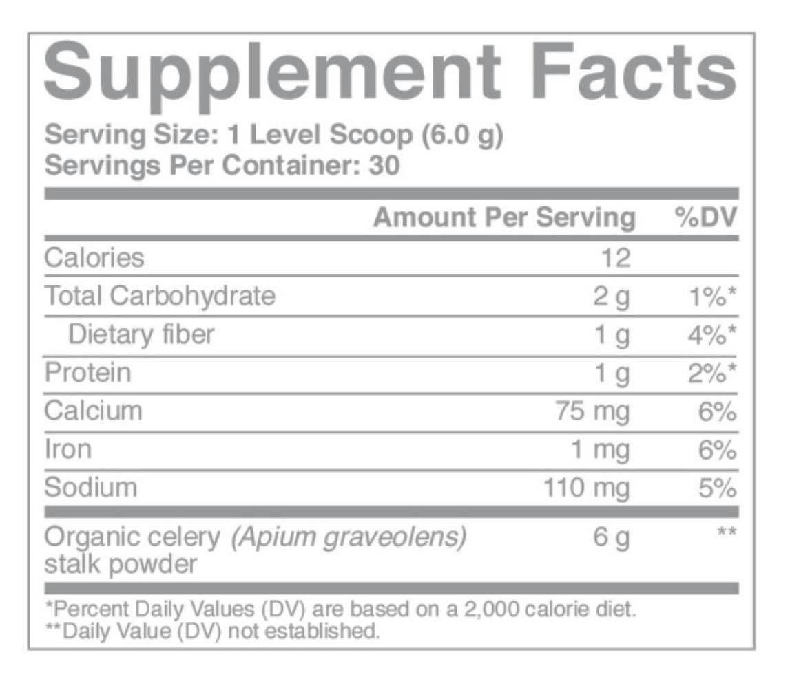 celery ingredients